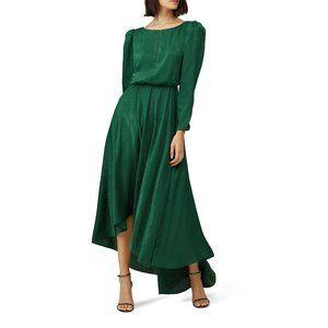 Sachin & Babi Emerald Green Crushed Willah Dress